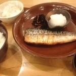 大戸屋 - 焼きサバ定食710円じゃこおろし160円
