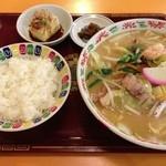 玉蘭 - 料理写真:ちゃんぽん麺セット