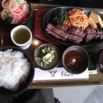 ナカムラ - 若狭牛ステーキランチ。