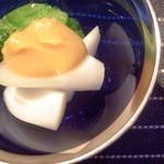 日本料理 櫂 - 芽キャベツとやまうどの酢味噌和え