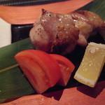 日本料理 櫂 - 地鶏、弾力がすごいです