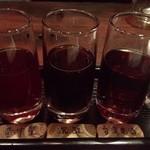 黒猫夜 - 三種きき酒 900円