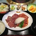 焼肉わかば - 大盛カルビ定食 ¥1200