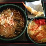 ゆで太郎 - カツ丼セット650円サービス券でエビ天♪