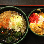 ゆで太郎 - カツ丼セット650円