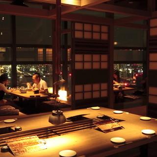 京都の桂離宮をテーマにした数寄屋モダン建築の空間