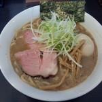 竹麺亭 - 限定・和風白湯ラーメン+半熟煮卵