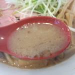 竹麺亭 - スープ