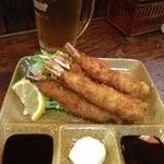 居酒屋 河童 - 料理写真:まっすぐエビフライ