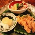 志蕎庵 江月 - 季節の3種もり
