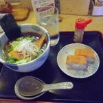 18278255 - 石狩鮭醤油ラーメン(いしかりバッテラ2個つき)