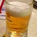 18279783 - 生ビール(中) ¥390  直ぐに撮るのを忘れました。