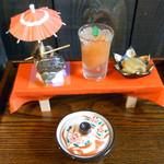 かくれ里 - 2月の料理、彩花(いろは)ご膳の前菜