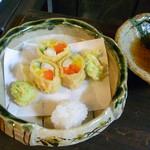 かくれ里 - 2月の料理、彩花(いろは)ご膳の揚げ