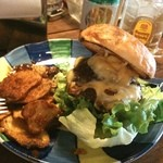 ANY's BURGER - cheeseburger set, ごちそうさま!