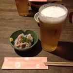 焼酎道楽 金星 - おビールと付け出し