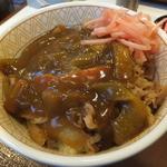 すき家 - カレー南蛮牛丼¥370