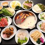 三国志 - 全部で35種類自分の好きな具を好みの味で、しゃぶしゃぶのようにお召し上がりいただけます。