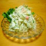 井泉 - 蟹と胡瓜のサラダ ¥700  他では味わえない感触の胡瓜と蟹のコラボです。