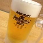 ぎょうざの満洲 - 生ビール