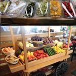 18292263 - ↑生野菜コーナー↓ベジタブルワゴン