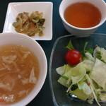 菩提樹 - サラダ、スープ、ザーサイ