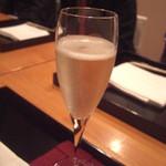 高瀬 - シャンパンで乾杯♪