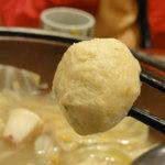 和食さと - 山海ちゃんこ鍋のマズイつくね