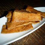 BACCHUS BASSIN - いつもの定番・・揚げ庄内麩。美味しいのです。お腹一杯でもツイツイ食べてしまいます。