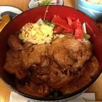 葦 - 豚ロース生姜焼きは丼になっています
