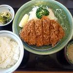 満点とんかつ四季彩 - <2013/04/10> ロースかつ定食(ご飯処利用付きで¥788)