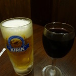 すてーき亭 - ビール&赤ワイン
