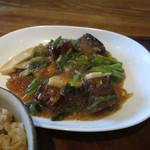 18305890 - 中国食堂261@豚の角煮と春雨、筍の醤油煮込み 850円_01