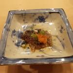 重寿司 - 鯛皮のポン酢です