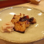 重寿司 - ぴりぴり焼き。いかとかタコとかでぴり辛。父が美味しくてお代わりしてました <*´∀`>
