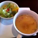 フォーリーフ・クローバー - ランチのサラダとスープ