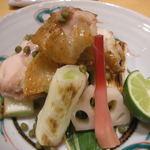 作一 - 地鶏の塩焼き
