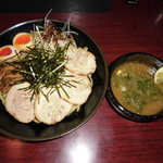 らーめん一八 - 料理写真:KAZUYA特製つけめん!!★大盛り無料♪人気上昇中ヽ(*´∀`)ノ太麺となってますのでオーダーの際はご容赦ください(^人^)