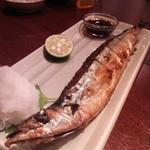 となりのチャッポラ - タンドールでグリルした秋刀魚