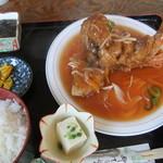 庶民の味処 金吾 - 料理写真:赤魚甘酢あんかけ定食。金吾で一番好き