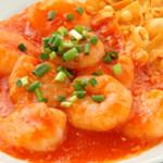 Fusa - 人気NO1!エビチリソース煮 プリップリッの海老と旨みあるチリソースで仕上げた極上の一品