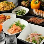 Fusa - 名物料理が入った5000円飲み放題付コース。お得なコースは3000円~