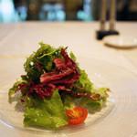 リストランテ パドリーノ・デル・ショーザン - ランチセットのサラダ