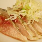 くいしん坊 錦 - 料理写真:伊豆鯖タタキ