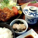 味政大衆割烹 - 料理写真:ある日のランチ(とんかつ)
