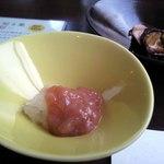 風香 - 甘海老の塩辛(お通し)