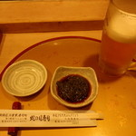 蛇の目寿司 - 料理写真:生ビールとつきだし