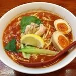 RYOMA本店 - 伊太利ー麺、半熟味玉