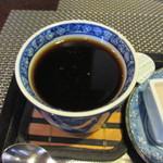 一軒露地 茶の子 - 最後は温かいコーヒーをいただいて暫く都会の雑踏を忘れてまったりさせていただきました。