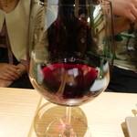 京ちゃばな~大地の恵み~ - 赤ワイン 息子が飲んでいます